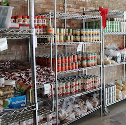 Food Pantry, Shelves of Food