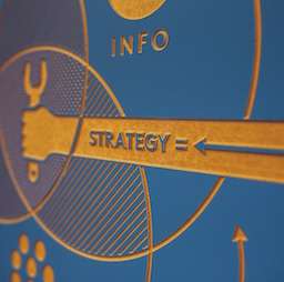 Arrow pointing to a new strategy for employee engagement