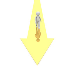 Man walking in the right direction, using a proactive performance management approach