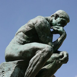 The Thinker Statue, rethinking his employee engagement strategy