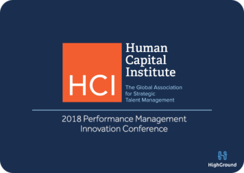 HCI Performance Management Innovation